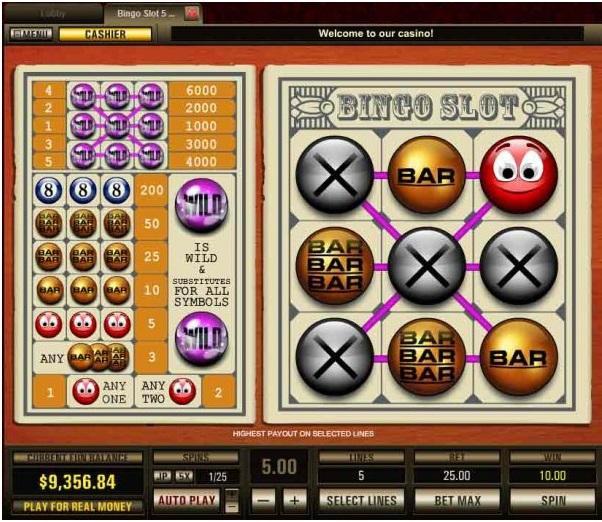 Bingo slot 5 line- pragmatic play