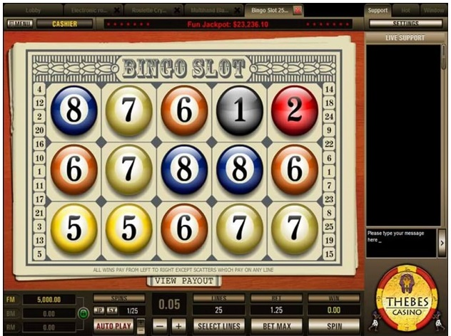 Bingo slot game