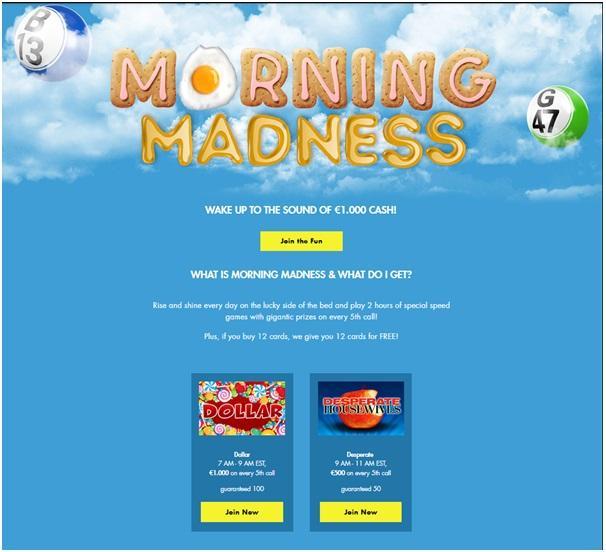 Morning Madness Bingo