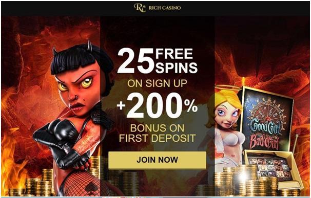 Rich Casino match bonus